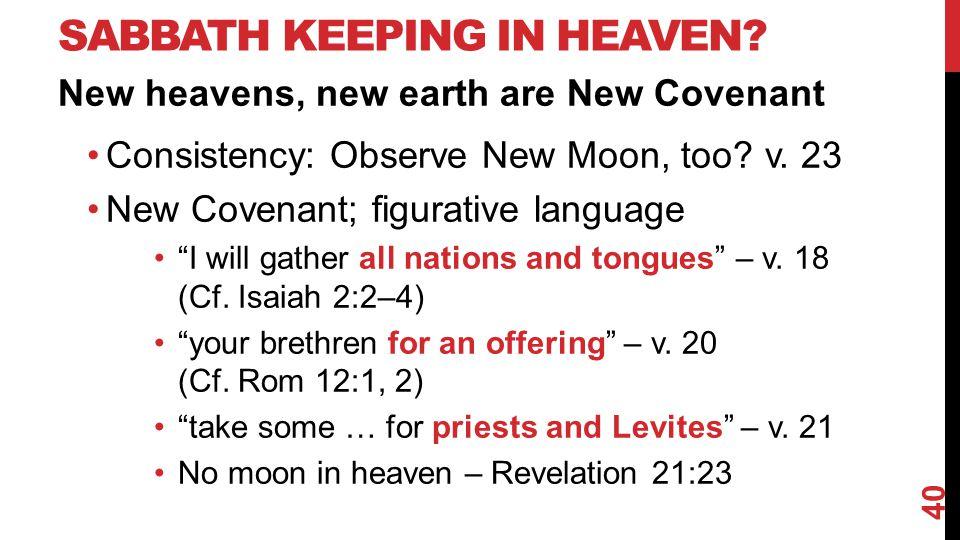 SABBATH KEEPING IN HEAVEN.