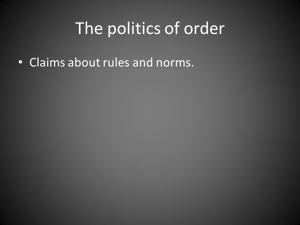 Claims about rules and norms.