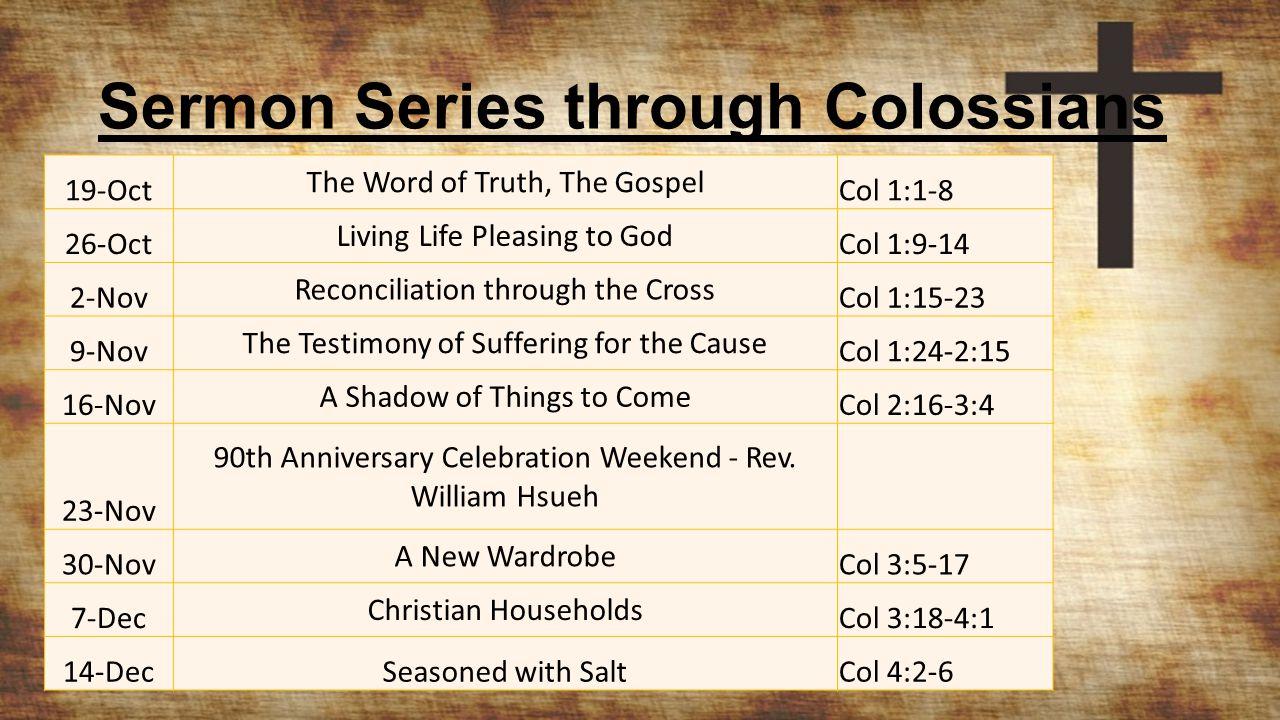 Seasoned with Salt Colossians 4:2-6