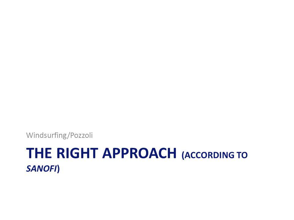 THE RIGHT APPROACH (ACCORDING TO SANOFI) Windsurfing/Pozzoli