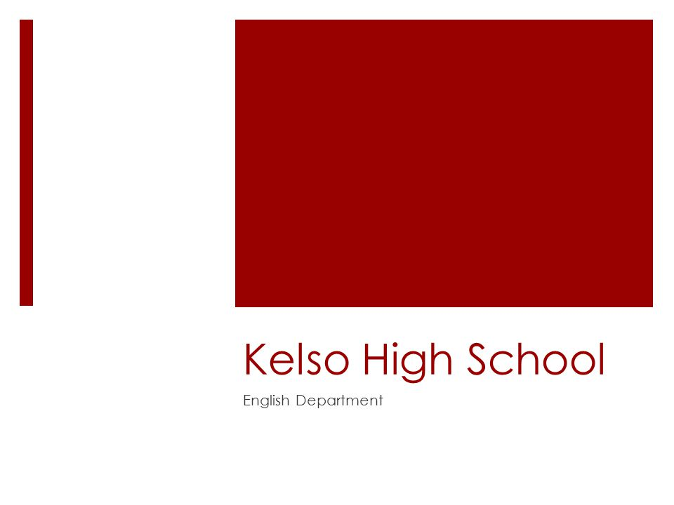 Kelso High School English Department
