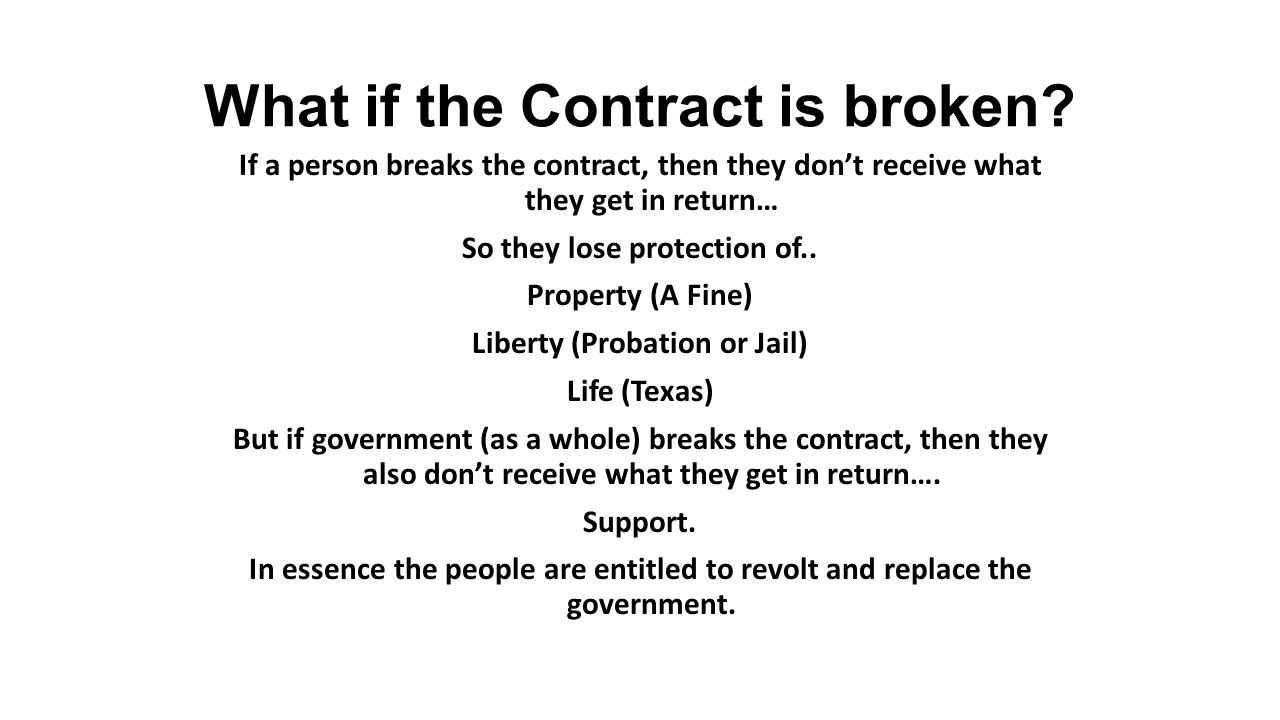 What if the Contract is broken.