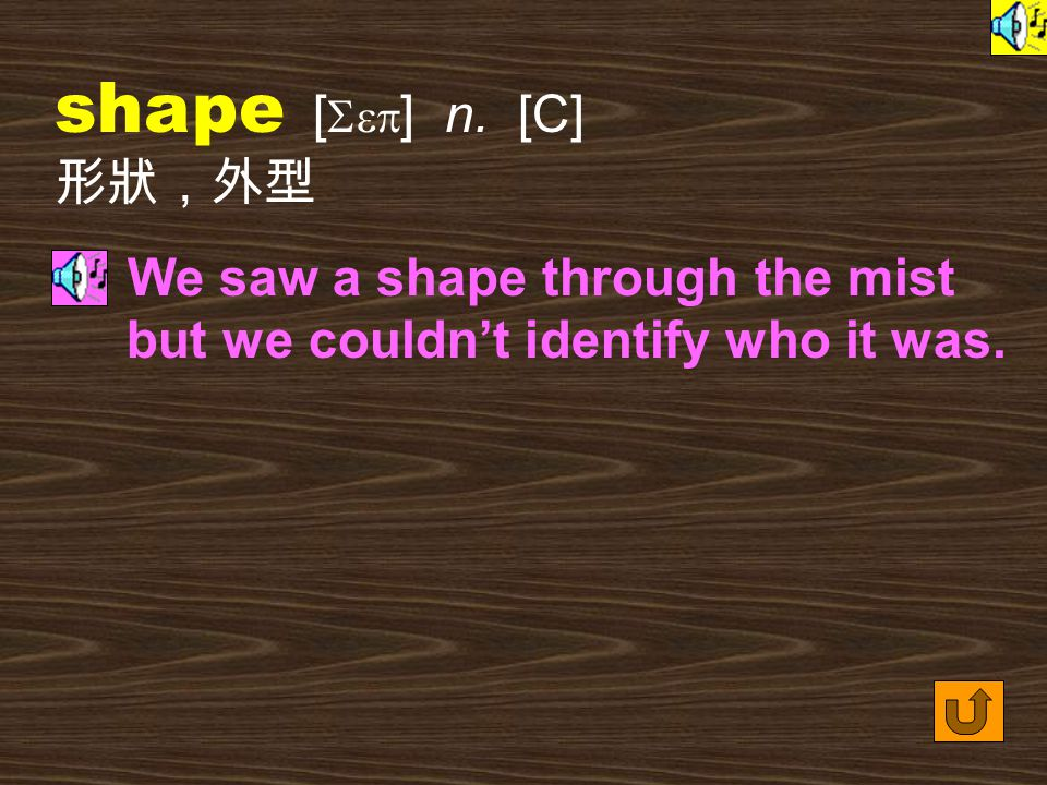 Words for Production 15. shape [ Sep ] vt. to arrange, express, etc.