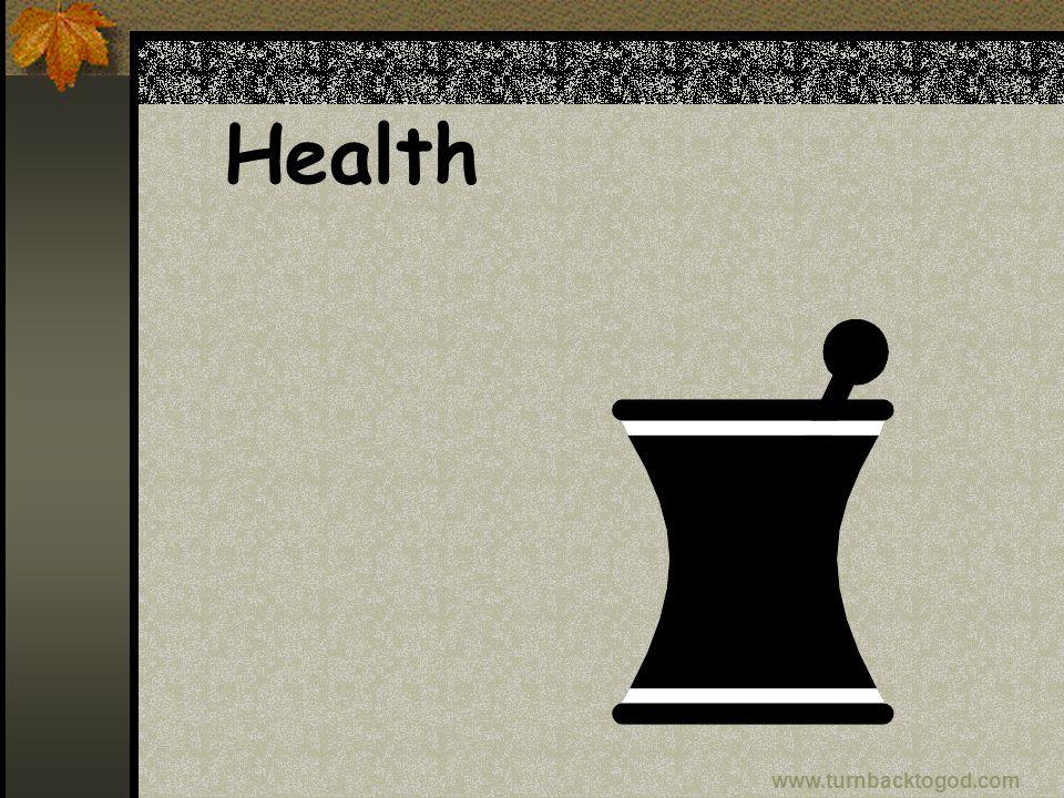 Health www.turnbacktogod.com