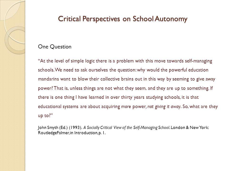 Eurydice Study on European School Autonomy (2007) School Autonomy and Multi-Accountability A trend is developing towards multi-accountability.