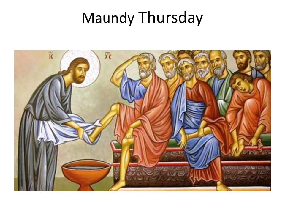 The word Maundy is derived from the Latin word for command. The Maundy in Maundy Thursday refers to the command Jesus gave to the disciples at the Last Supper, that they should love and serve one another.