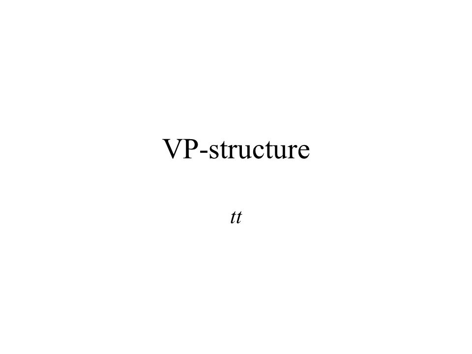 VP-structure tt
