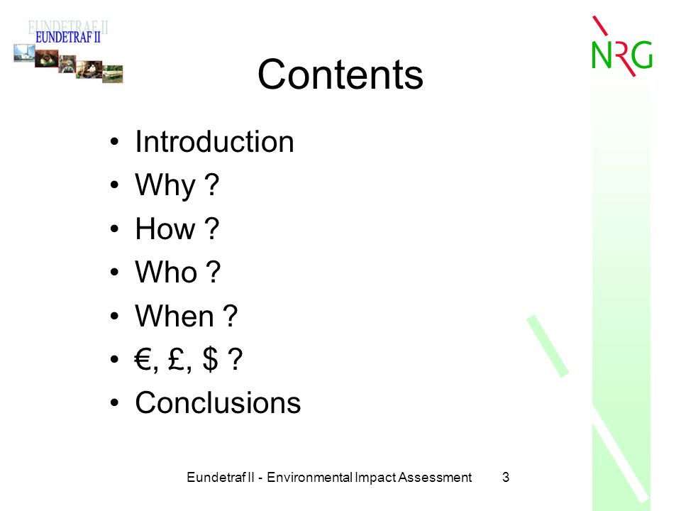 Eundetraf II - Environmental Impact Assessment64 Conclusions When .