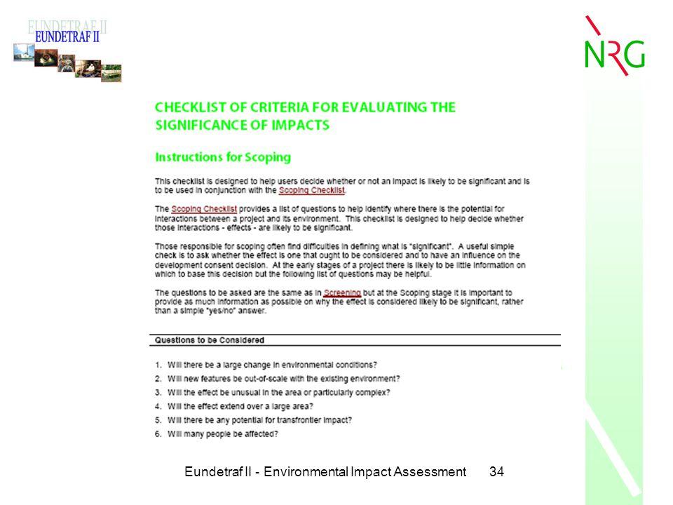 Eundetraf II - Environmental Impact Assessment34