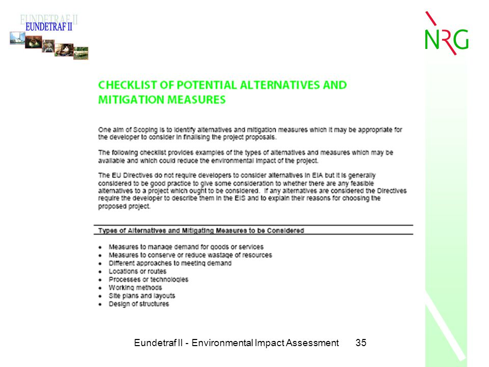 Eundetraf II - Environmental Impact Assessment35