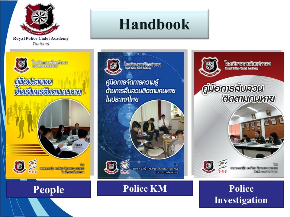 Royal Police Cadet Academy Thailand Handbook People Police KMPolice Investigation