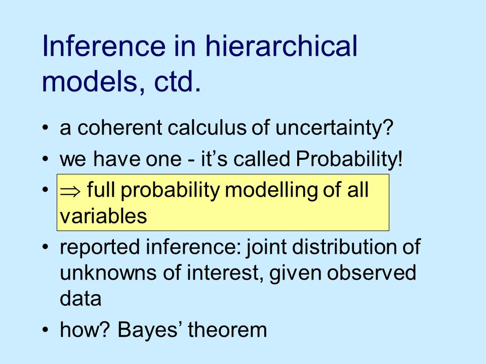 a coherent calculus of uncertainty. we have one - it's called Probability.