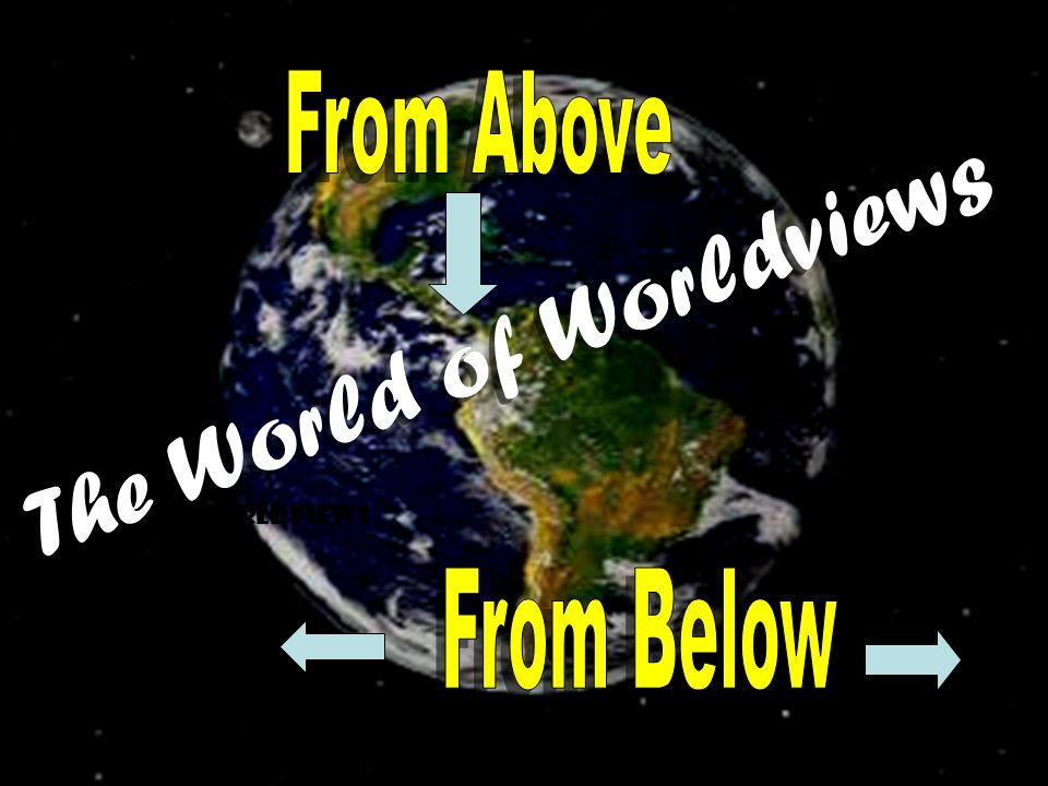 WORLDVIEWS The World of Worldviews