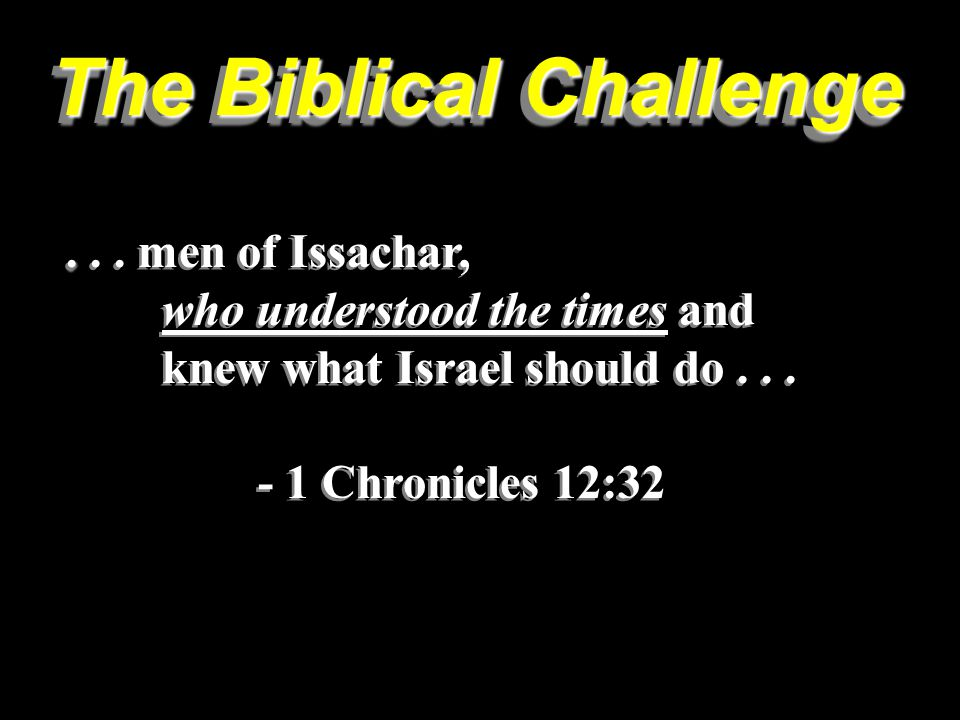 The Biblical Challenge....