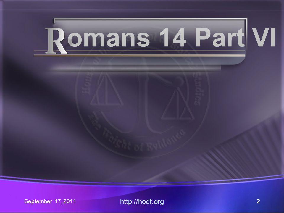 September 17, 2011 http://hodf.org 53 Heart of the Matter