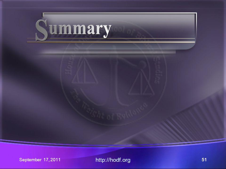 September 17, 2011 http://hodf.org 51