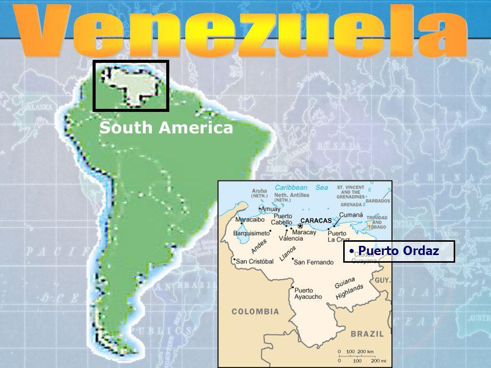 South America Puerto Ordaz