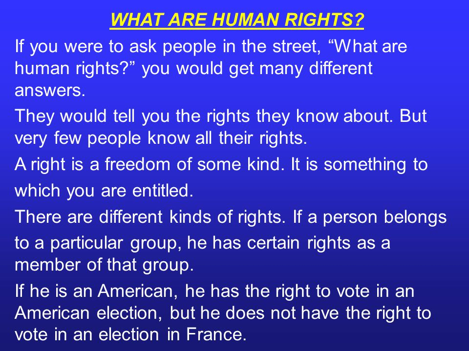 Common Myths about Human Rights - Human Rights = civil rights.
