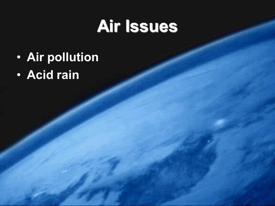 Air Issues Air pollution Acid rain