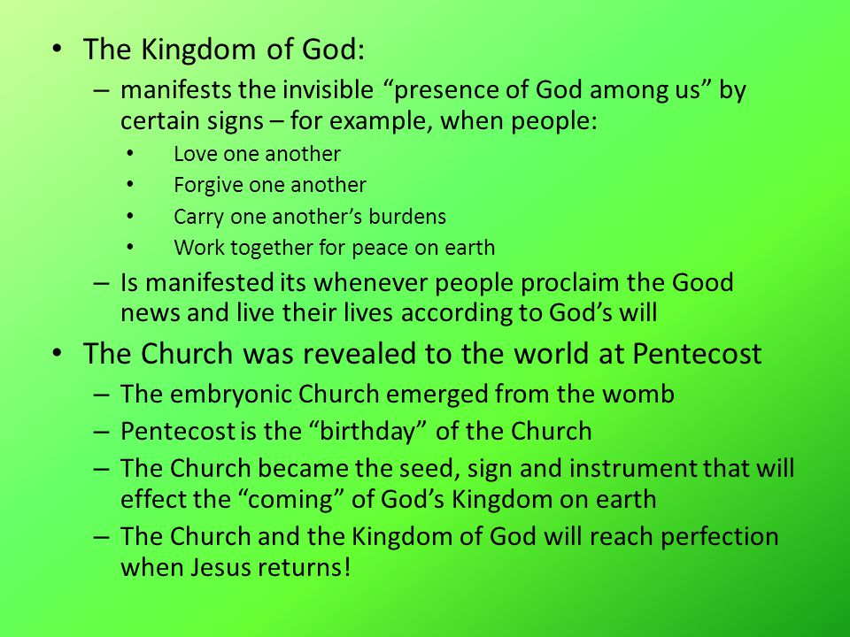 Instituted, Revealed & Perfected Kingdom of Satan unleashed three ancient evils: sin, sickness and death.