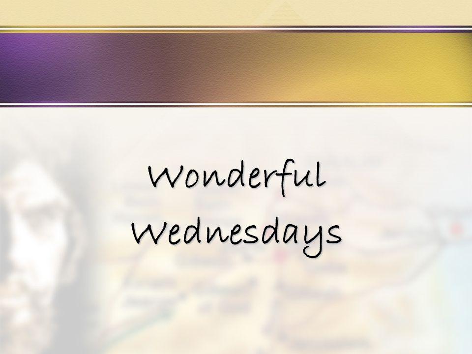 WonderfulWednesdays