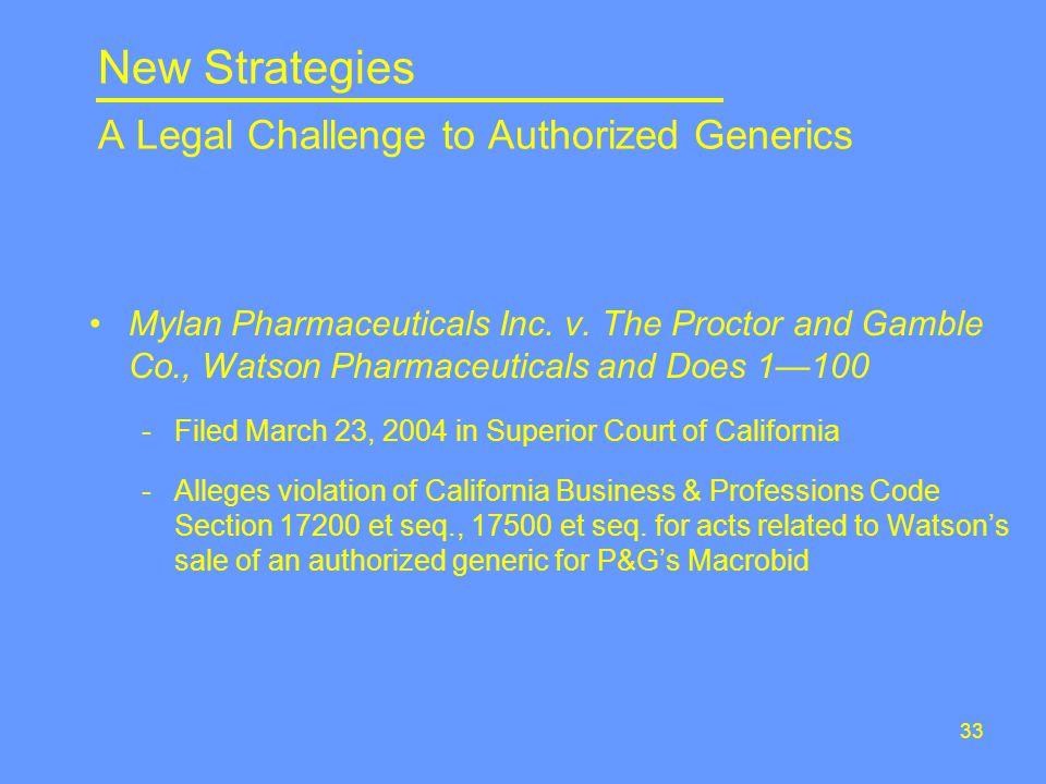 33 Mylan Pharmaceuticals Inc. v.