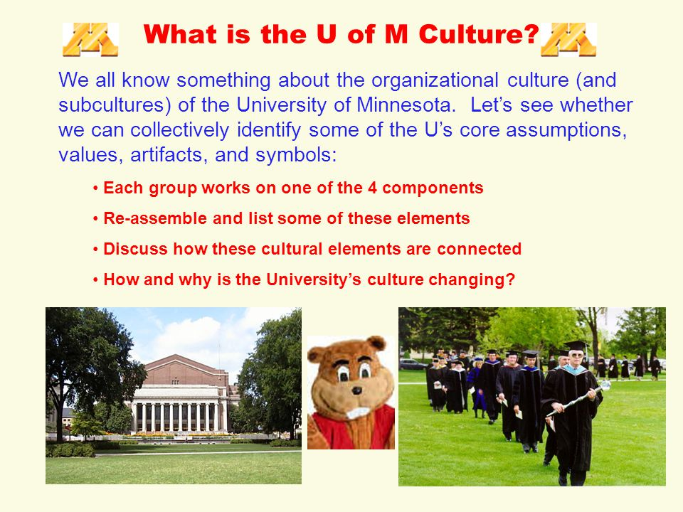 What is the U of M Culture.