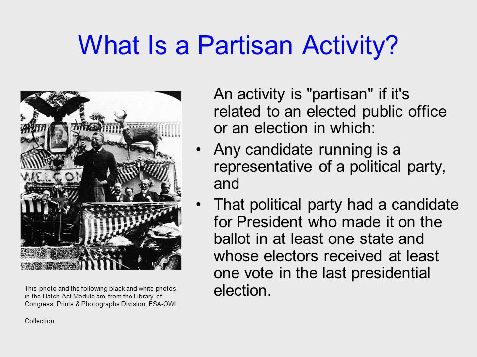 What Is a Partisan Activity? An activity is