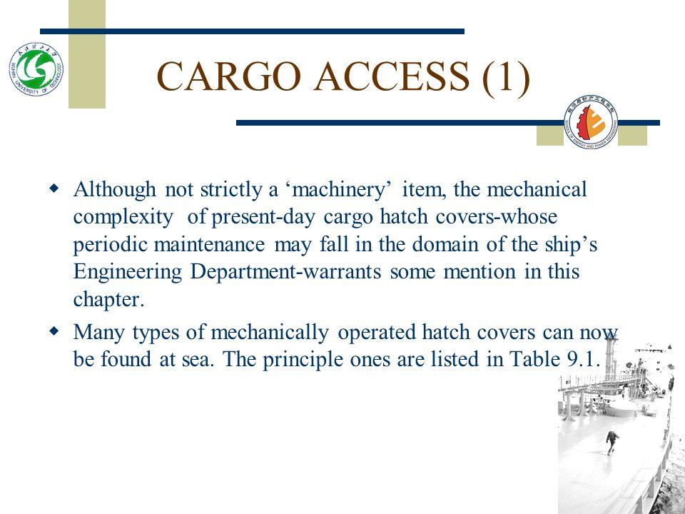Marine Auxiliary Machinery Chapter 9 Lesson 6 Deck Machinery Cargo Access By Professor Zhao Zai Li 05.2006