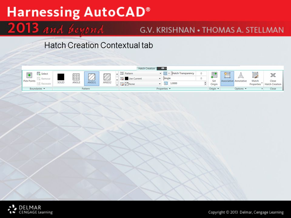 Hatch Creation Contextual tab