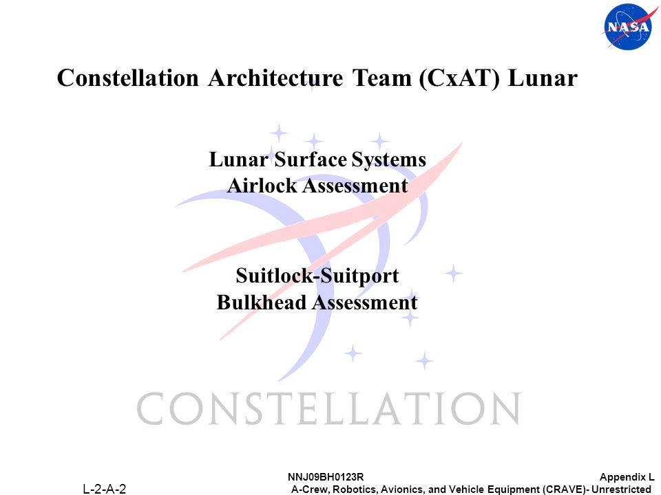 NNJ09BH0123RAppendix L A-Crew, Robotics, Avionics, and Vehicle Equipment (CRAVE)- Unrestricted Constellation Architecture Team (CxAT) Lunar Lunar Surface Systems Airlock Assessment Suitlock-Suitport Bulkhead Assessment L-2-A-2