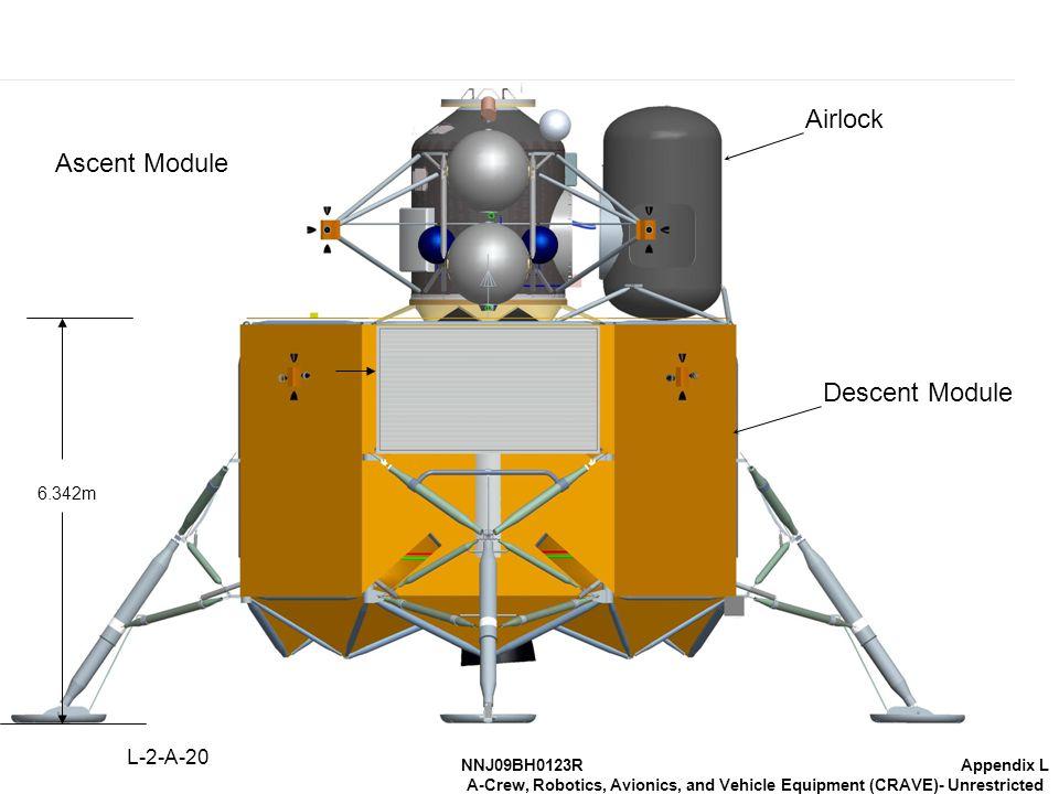 NNJ09BH0123RAppendix L A-Crew, Robotics, Avionics, and Vehicle Equipment (CRAVE)- Unrestricted 6.342m Airlock Descent Module Ascent Module L-2-A-20