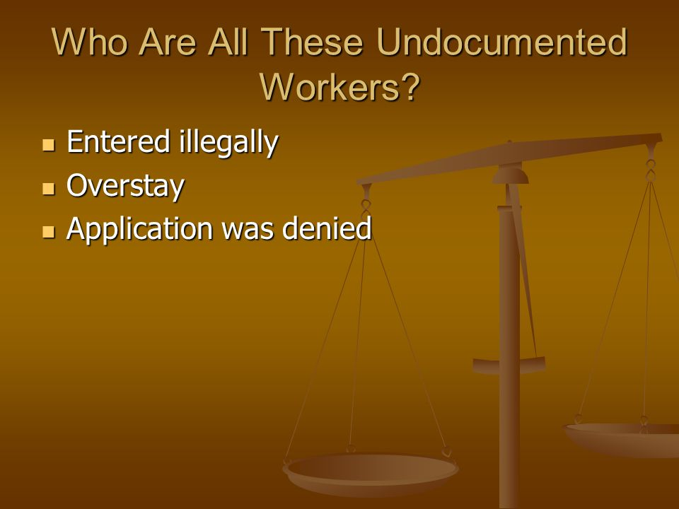 Who Are All These Undocumented Workers.