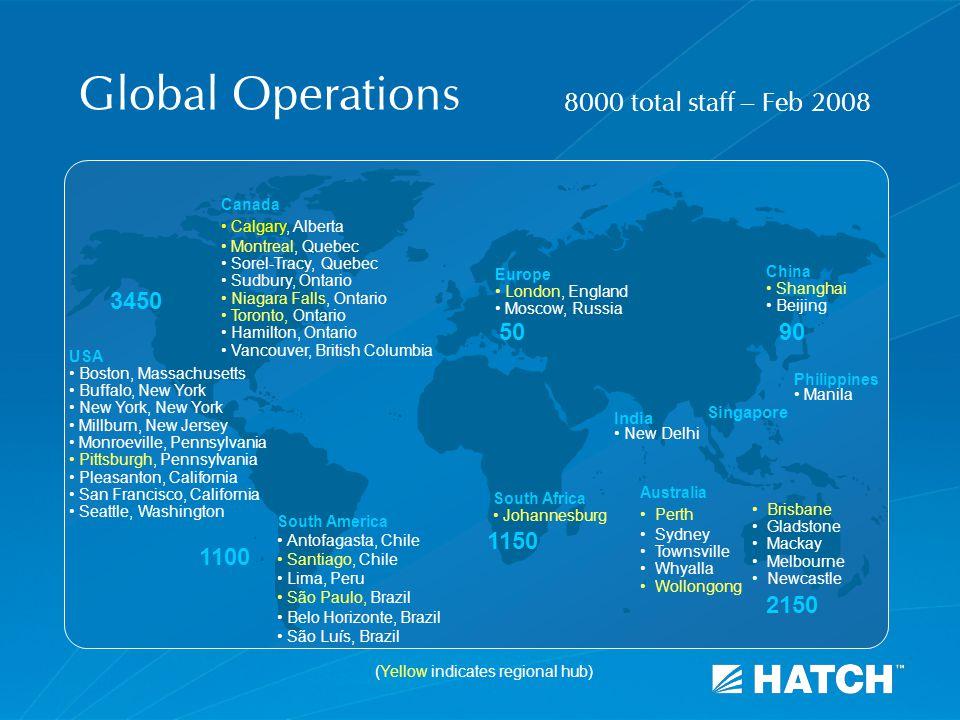 Global Operations South America Antofagasta, Chile Santiago, Chile Lima, Peru São Paulo, Brazil Belo Horizonte, Brazil São Luís, Brazil Europe London,