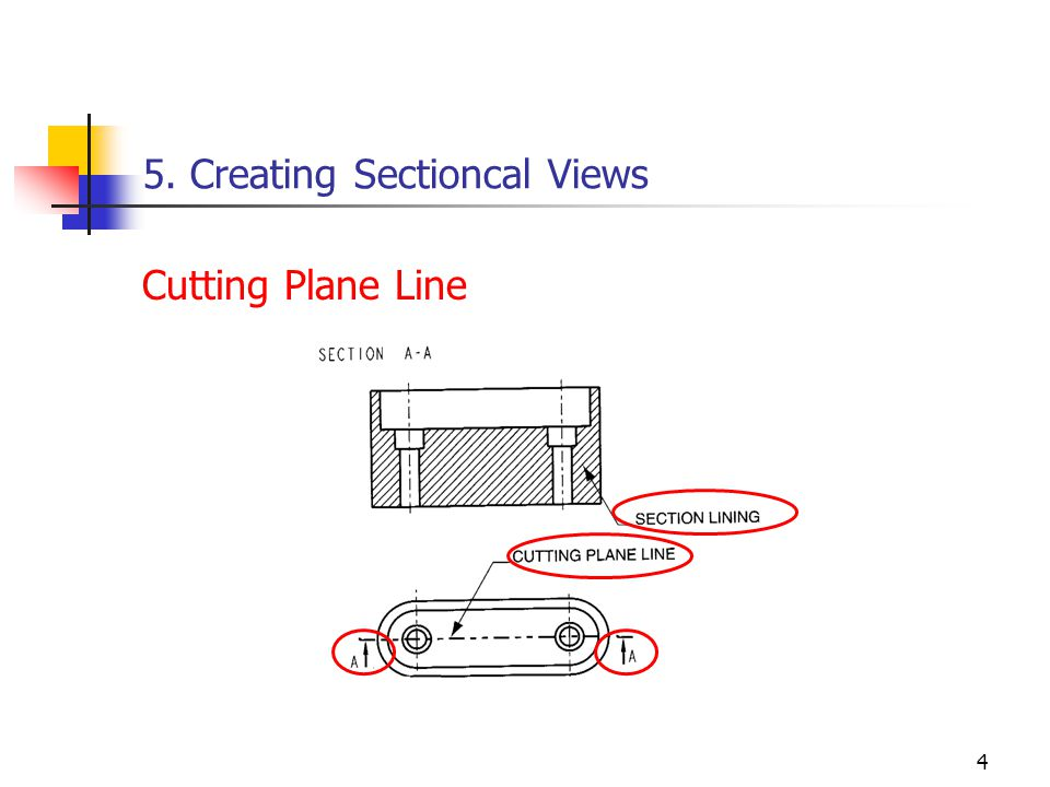 4 5. Creating Sectioncal Views Cutting Plane Line