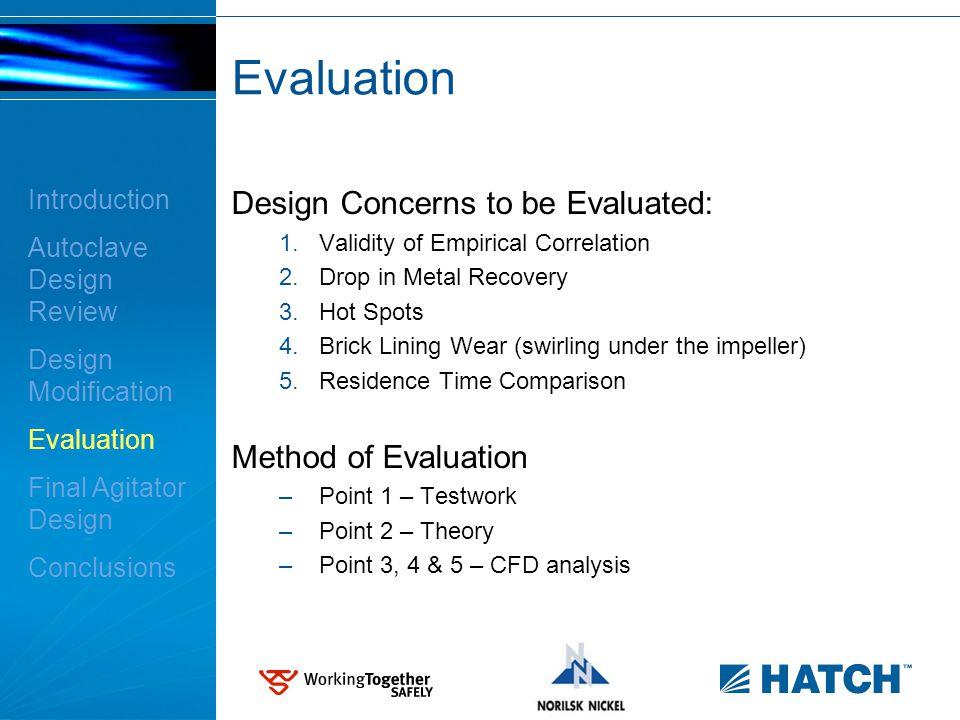 Validity of Empirical Correlation - Demo Plant Test Work Measured P/V > empirical correlation (2.6kW/m 3 vs.