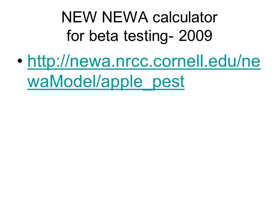 New NEWA Apple Insect Models