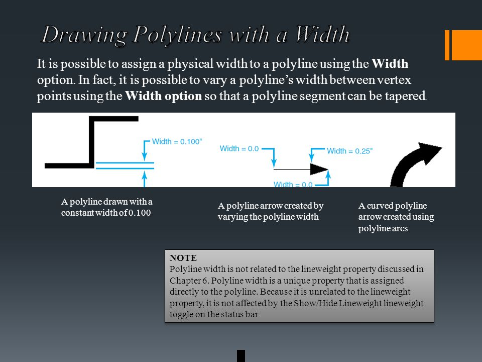 It is possible to assign a physical width to a polyline using the Width option.