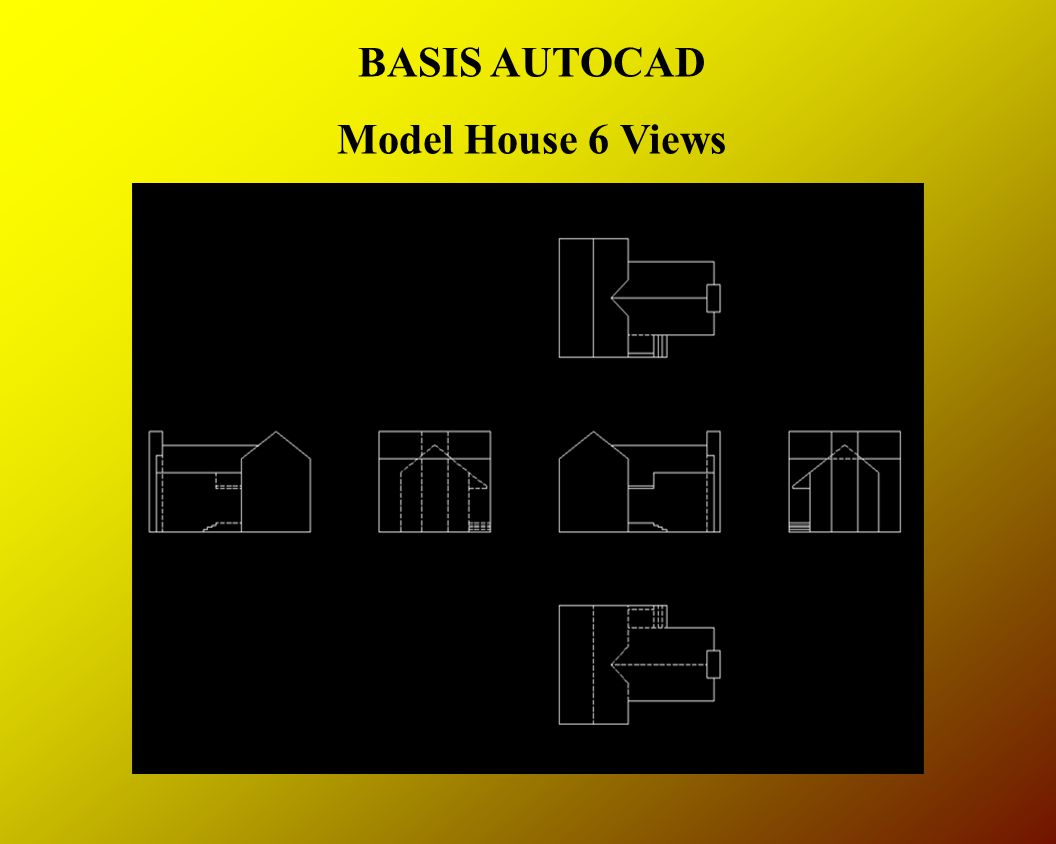 BASIS AUTOCAD Model House 6 Views