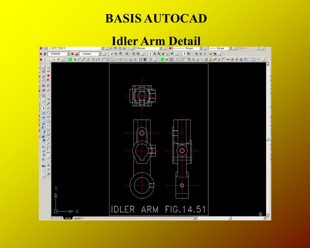 BASIS AUTOCAD Idler Arm Detail