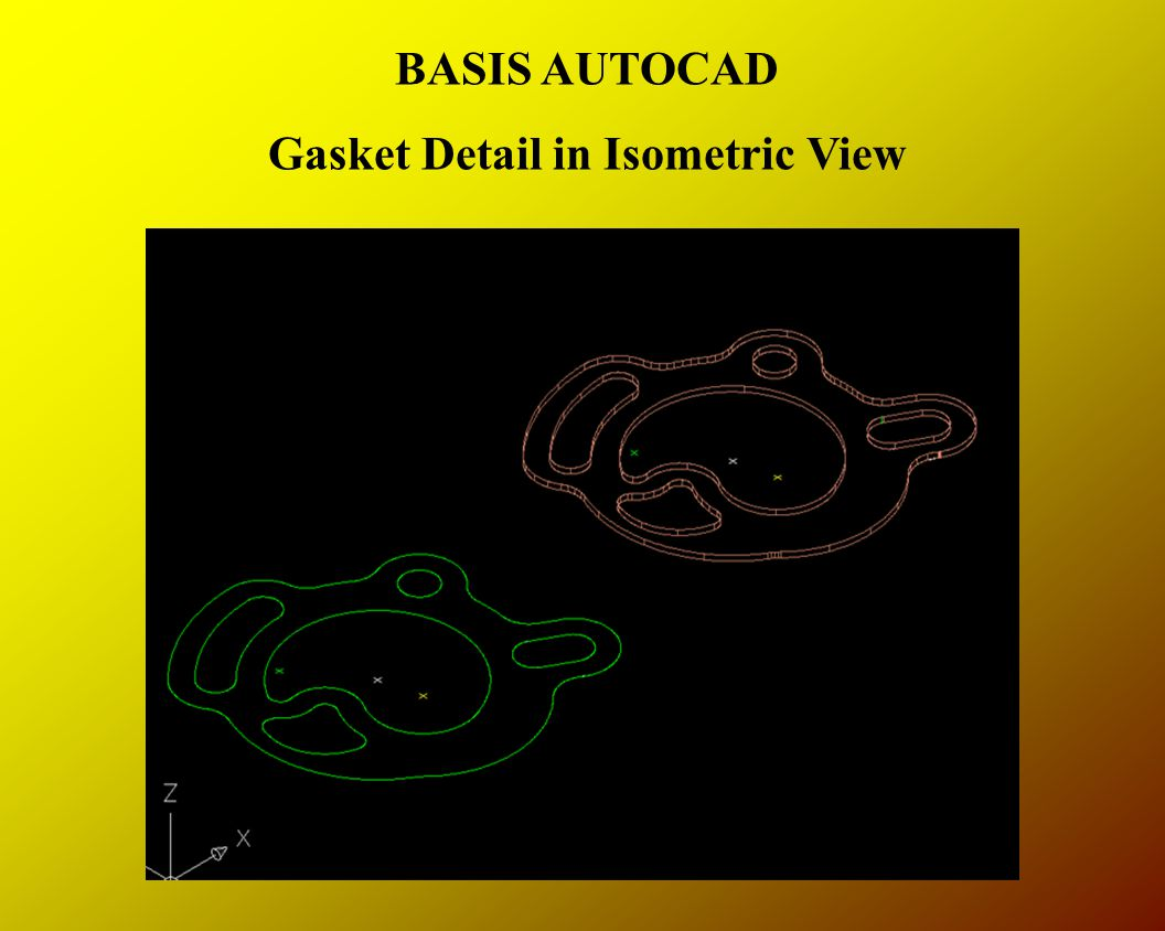 BASIS AUTOCAD Gasket Detail in Isometric View