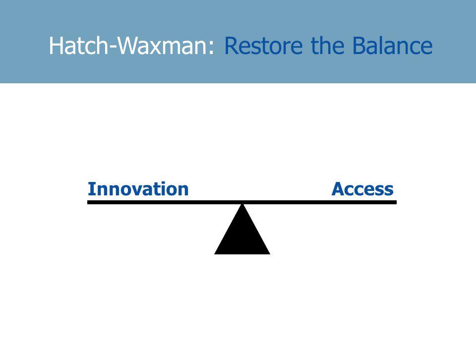Hatch-Waxman: Restore the Balance InnovationAccess