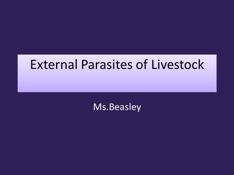 External Parasites Parasite: an organism living at the expense of another organism or host.