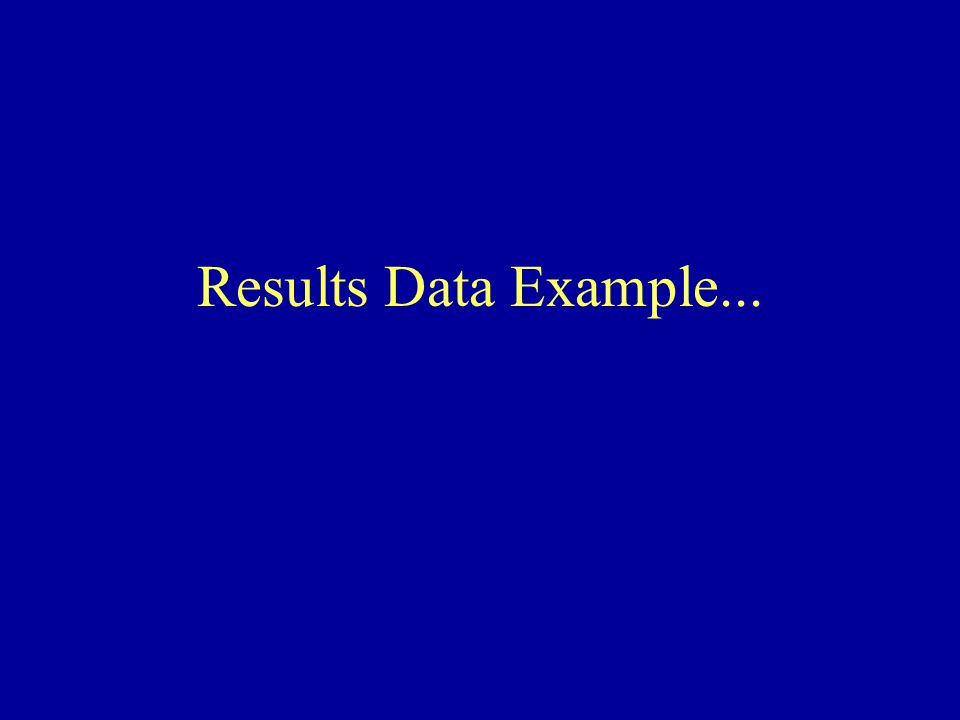 Results Data Example...