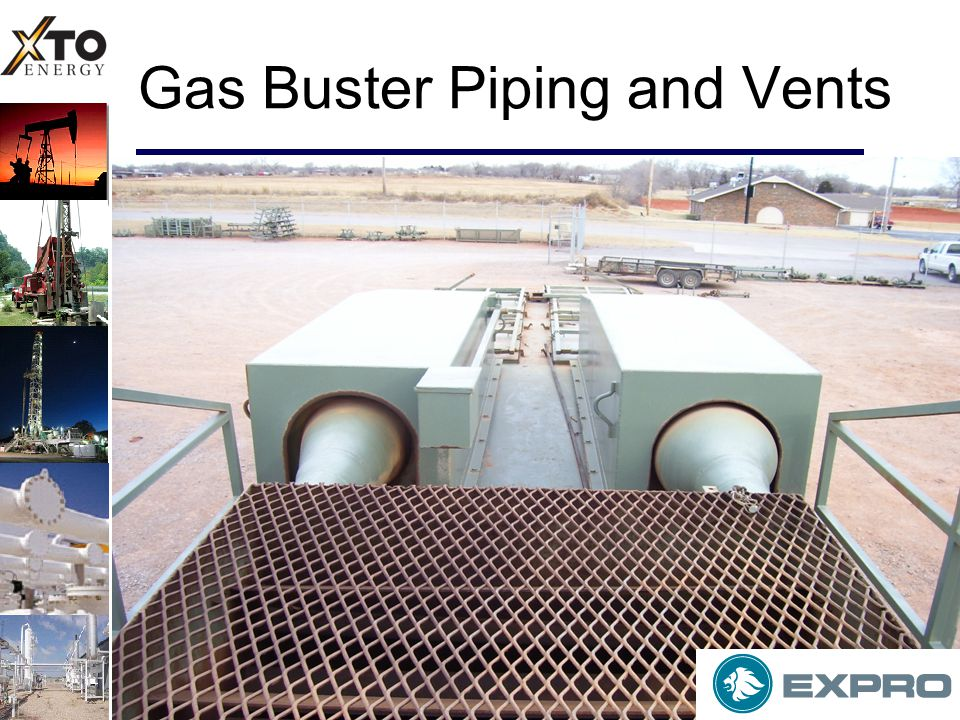Gas Buster Piping and Vents