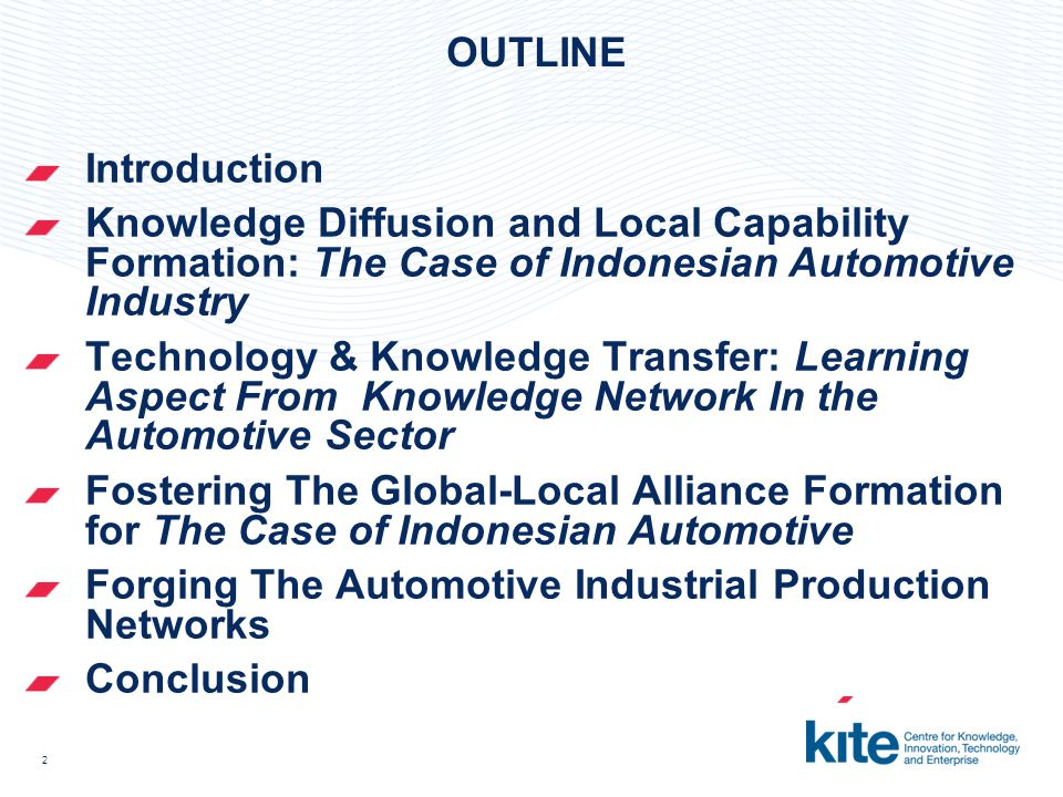 3 AIM & METHODOLOGY Aim: This research intend to demonstrate that Japan is not only plugging into the region's economy energy but also transforming and promoting the host country in technology-based production alliance Methodology Case Study approach: qualitative research and secondary data for statistic and numerical data Descriptive & Explorative study on the Automotive Cluster and its learning dimension along with its linkages in Indonesia Semi-structured interview with the automotive actors (car makers and their suppliers), government, industrial estate developer, university/research institution Field work & observation in the car plants for 4 months On-Going Correspondent with the interviewees