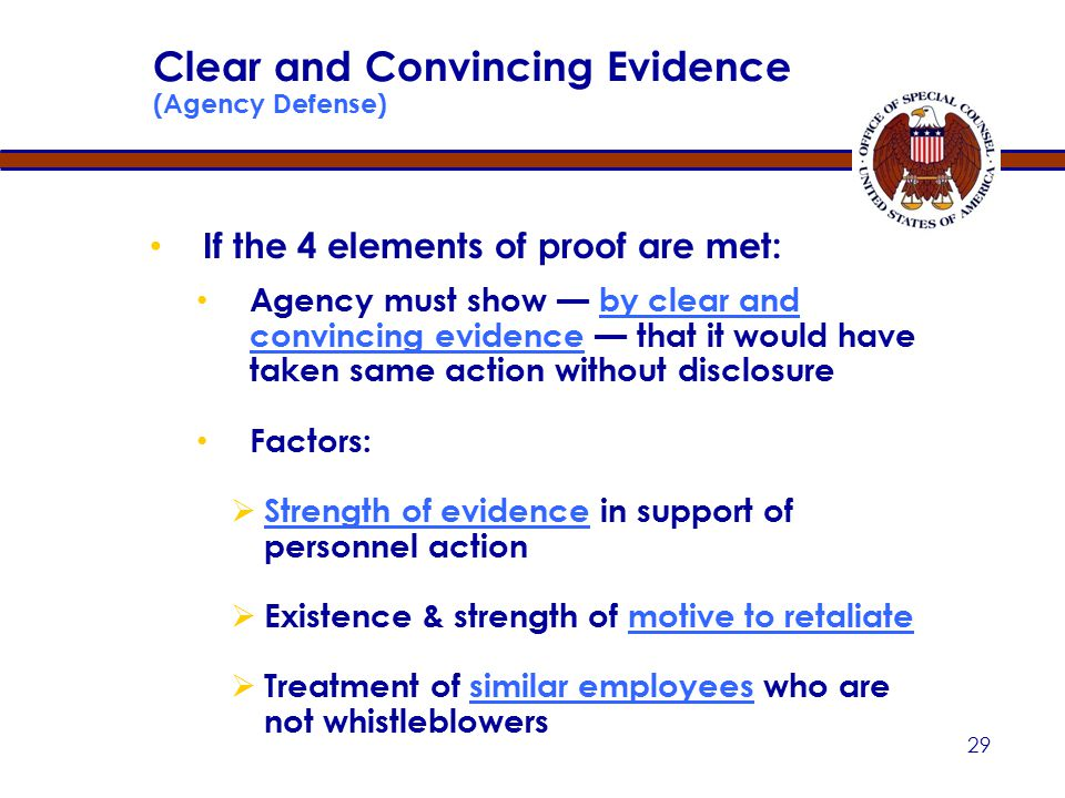 28 Contributing Factor Is the protected whistleblower disclosure any factor which alone or in connection with others tends to affect in any way the outcome of the personnel action at issue.