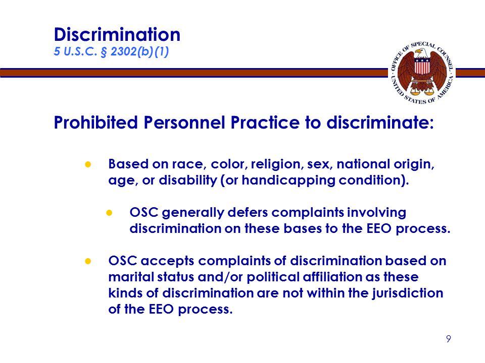 9 Discrimination 5 U.S.C.