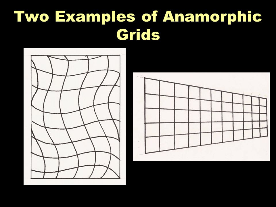 Two Examples of Anamorphic Grids
