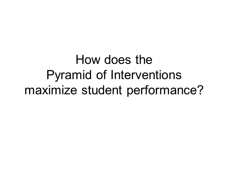 How does the Pyramid of Interventions maximize student performance